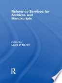 Reference services for archives and manuscripts /