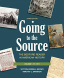 Going to the source : the Bedford reader in American history /