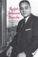 Ralph Johnson Bunche : public intellectual and Nobel Peace laureate / edited by Beverly Lindsay ; foreword by John Hope Franklin.