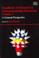 Handbook of research in entrepreneurship education /