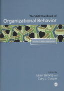 The SAGE handbook of organizational behavior.
