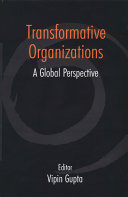 Transformative organizations : a global perspective /