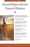 Harvard business review on women in business.