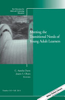 Meeting the transitional needs of young adult learners /