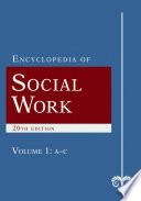 The encyclopedia of social work.