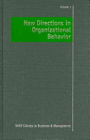 New directions in organizational behavior /