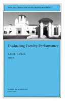 Evaluating faculty performance /