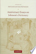 Anniversary essays on Johnson's dictionary /