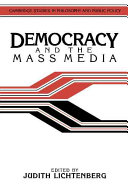 Democracy and the mass media : a collection of essays /