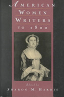American women writers to 1800 /
