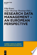 Research data management : a European perspective /
