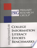 College information literacy efforts benchmarks.