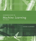 Introduction to machine learning /