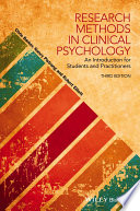 Research methods in clinical psychology : an introduction for students and practitioners /