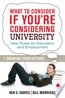 What to consider if you're considering college : new rules for education and employment /