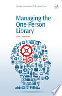 Managing the one-person library /