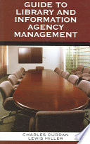Guide to library and information agency management /
