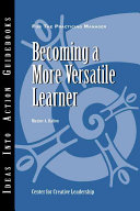 Becoming a more versatile learner /