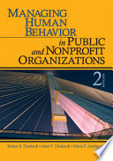 Managing human behavior in public and nonprofit organizations /