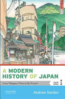 A modern history of Japan : from Tokugawa times to the present /