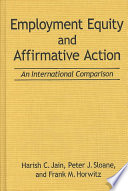 Employment equity and affirmative action : an international comparison /