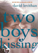 Two boys kissing /