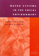 Macro systems in the social environment /