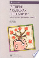 Is there a Canadian philosophy? : reflections on the Canadian identity /