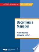 Becoming a manager /