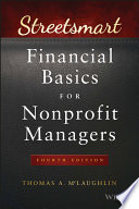 Streetsmart financial basics for nonprofit managers /