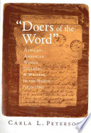 """Doers of the word"" : African-American women speakers and writers in the North (1830-1880) /"