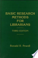 Basic research methods for librarians :