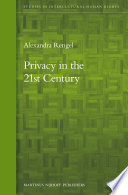 Privacy in the 21st century /