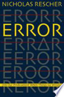 Error : on our predicament when things go wrong /