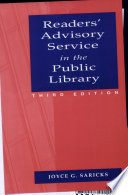 Readers' advisory service in the public library /