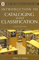 Introduction to cataloging and classification /