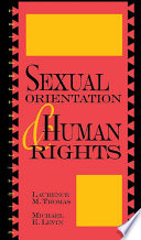 Sexual orientation and human rights /