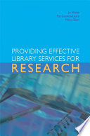 Providing effective library services for research /